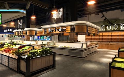 現代超市——畜牧肉區3D模型【ID:120811795】