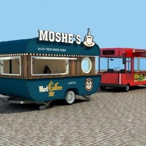 现代快餐车3D模型【ID:726223529】