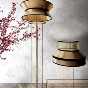 新中式落地燈3D模型【ID:834830264】