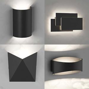 后現代簡約壁燈3D模型【ID:531434933】
