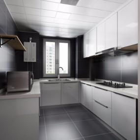 现代厨房橱柜3D模型【ID:127766420】