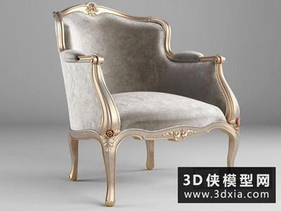 欧式椅子国外3D模型【ID:729382820】