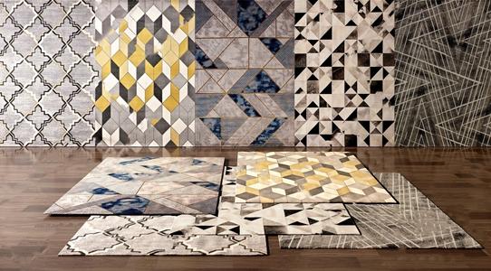 现代风格地毯3D模型【ID:241356623】