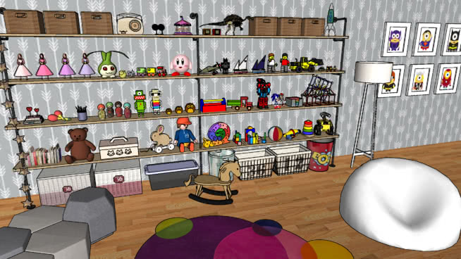 儿童+玩具SU模型【ID:640145775】