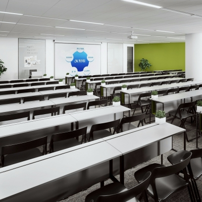 现代办公培训室3D模型【ID:728468851】