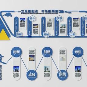 現代企業文化宣傳背景墻3d模型【ID:248244788】