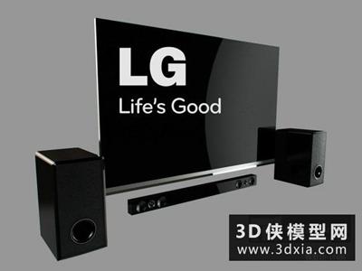 电视音箱组合国外3D模型【ID:129618790】