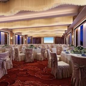酒店宴会厅3D模型【ID:427957456】