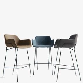 现代吧椅3D模型【ID:934674282】