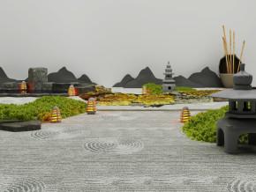 新中式景观小品3D模型【ID:127756828】