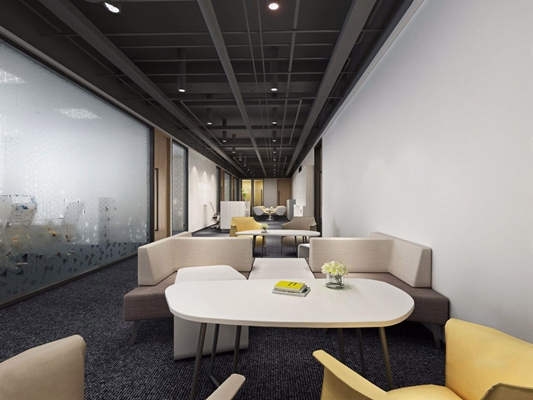现代办公室休闲区3D模型【ID:828149174】