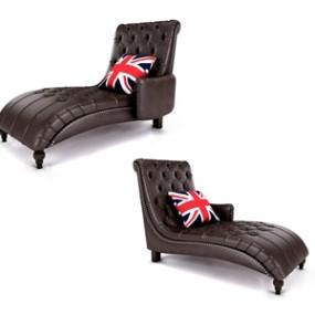 美式贵妃椅3D模型【ID:642043929】