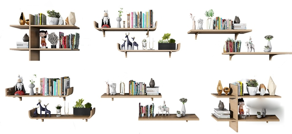 現代層板裝飾架壁柜3D模型【ID:247685484】