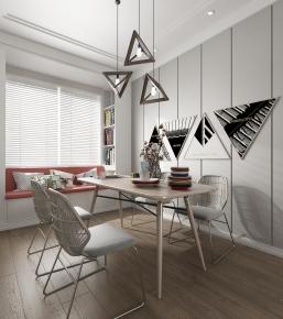 北欧客厅餐厅3D模型【ID:927818597】