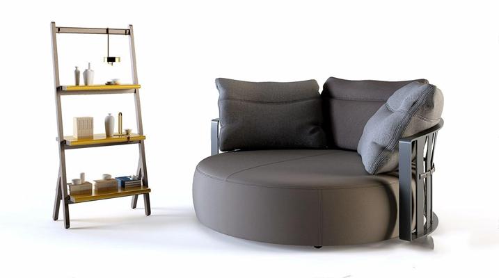 現代沙發床3D模型【ID:728304274】