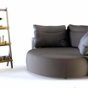 现代沙发床3D模型【ID:728304274】