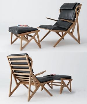 現代躺椅3D模型【ID:734674308】