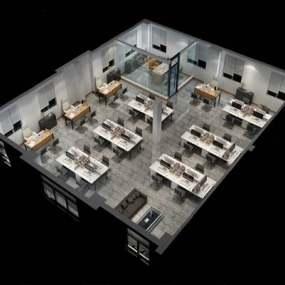 现代办公室3D模型【ID:624893018】