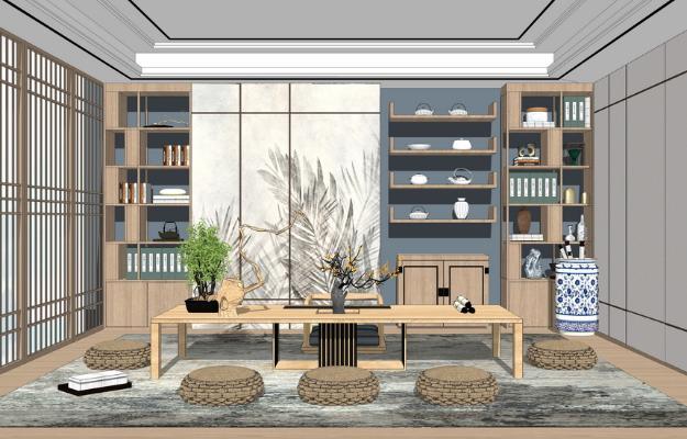 日式茶室SU模型【ID:648073087】