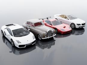 现代汽车跑车轿车组合3D模型【ID:327784188】