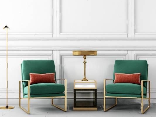单人沙发3D模型【ID:920023681】