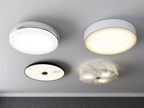 現代時尚吸頂燈組合3D模型【ID:627804096】