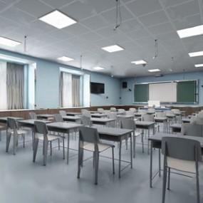 现代教室3D模型【ID:120822020】
