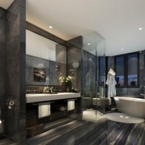 现代卫生间浴室3D模型【ID:128413672】