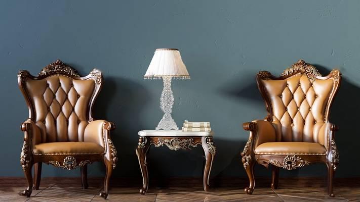 欧式单人沙发3D模型【ID:920605607】