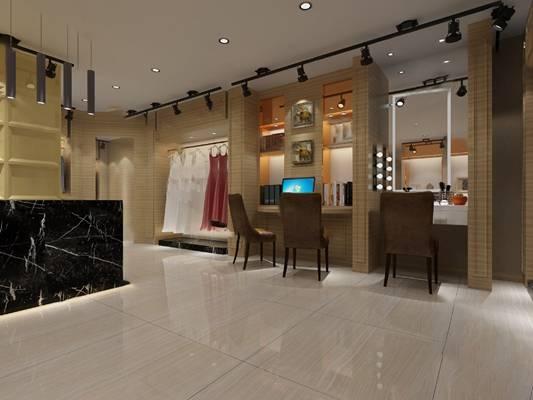 工业服装店3D模型【ID:920614597】