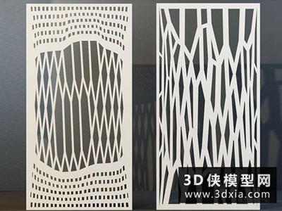 現代屏風國外3D模型【ID:929407520】
