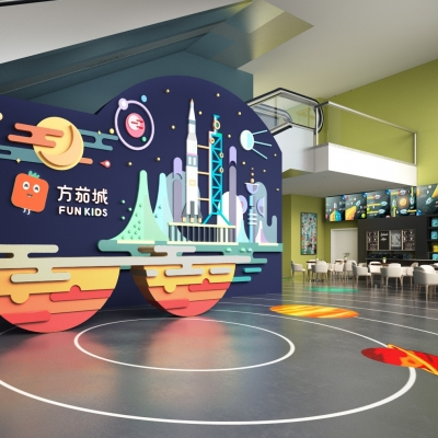 现代儿童培训教室3D模型【ID:528454875】