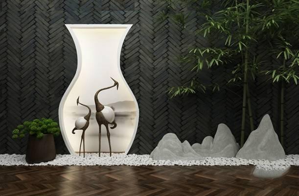 中式园艺小品3D模型【ID:124891894】