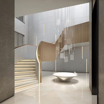 現代旋轉樓梯3D模型【ID:728097997】