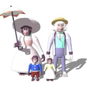 卡通人物SU模型【ID:846374062】