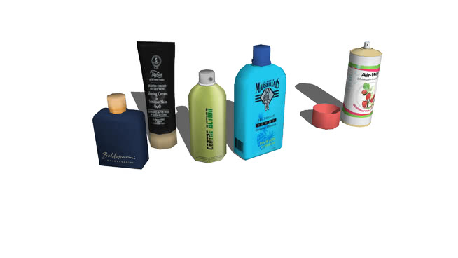 卫生产品和护肤品SU模型【ID:840165752】