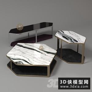 現代茶幾國外3D模型【ID:829310179】