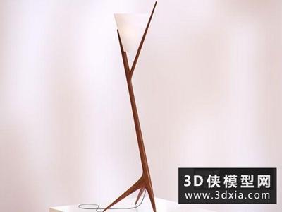 现代木质落地灯国外3D模型【ID:929392035】