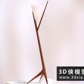 现代木质落地灯】