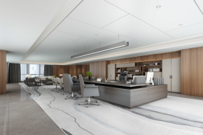 新中式總經理辦公室3D模型【ID:727807548】