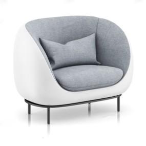 北欧创意布艺沙发3D模型【ID:928177620】