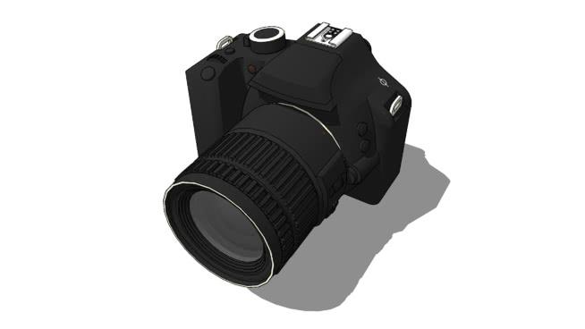 無品牌數碼單反相機SU模型【ID:740168961】