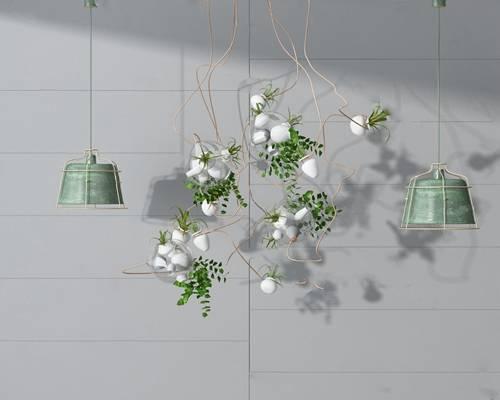 现代吊灯3D模型【ID:220025877】