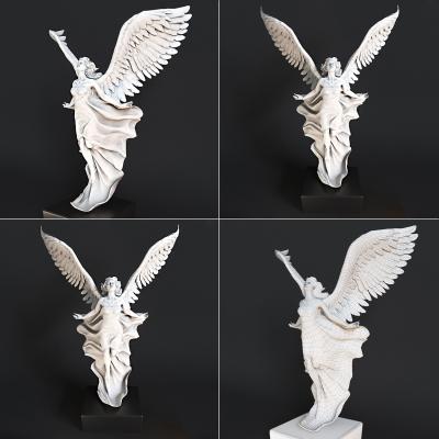 歐式飛天女神石膏雕塑3D模型【ID:328440884】