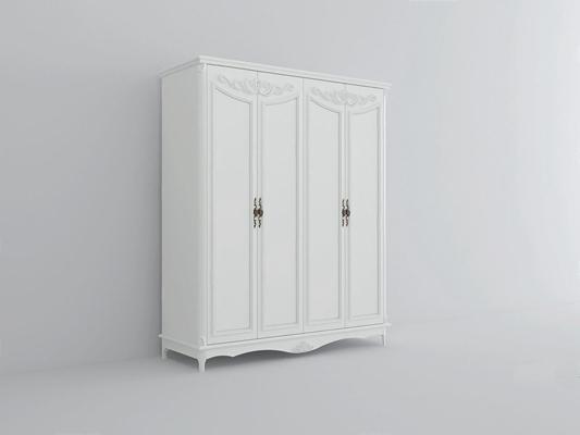 美式四门衣柜-XS3D模型【ID:928199913】