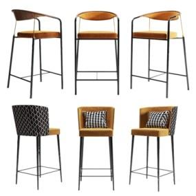 现代吧椅餐椅3D模型【ID:934113225】