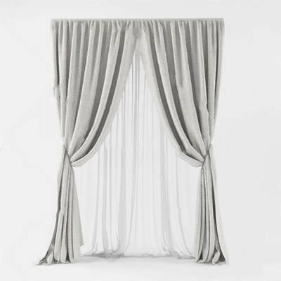 现代窗帘3D模型下载【ID:319500819】