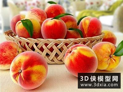 水果桃子國外3D模型【ID:929691521】