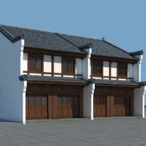 中式建筑3D模型【ID:124896226】