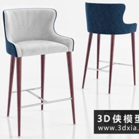 现代吧椅国外3D模型【ID:729504877】